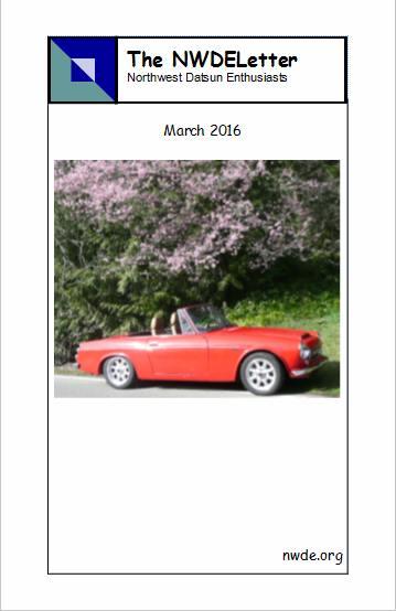 NWDE 2016 03 Mar newsletter