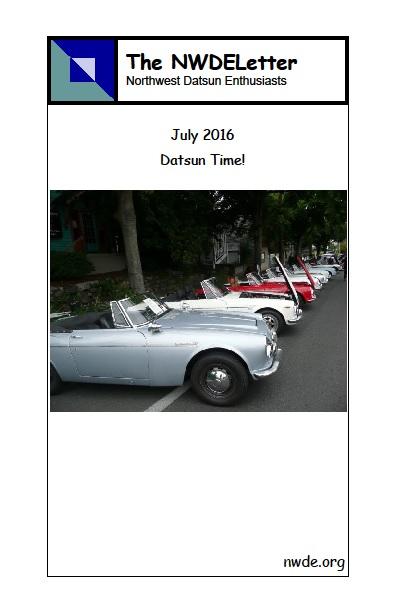 NWDE 2016 07 Jul newsletter