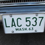 Restored Plate on the Datsun collector car